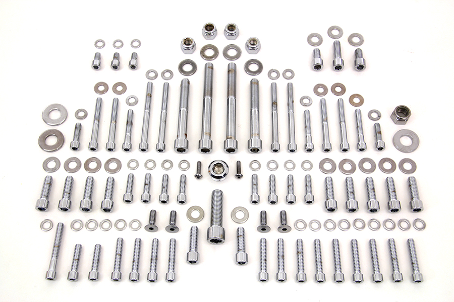 Polished Engine Dress Up Bolt Kit for Harley FX 1978-1984 Shovelhead