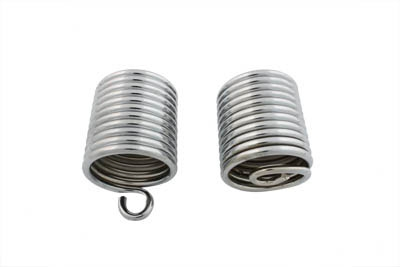 Chrome Auxiliary Seat Spring Set for 1936-1957 Big Twins