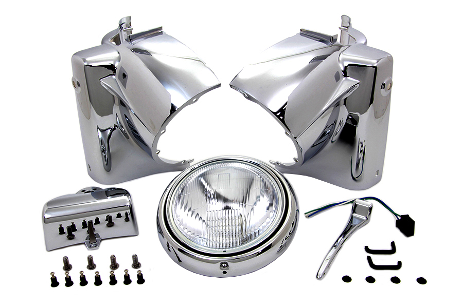 Chrome FLT 1986-up Tour Glide Headlamp Cowl Assembly