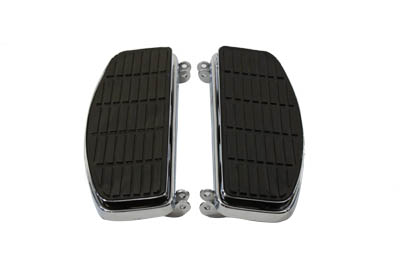 Driver Chrome 'D' Shape Footboard Set