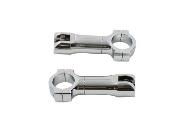 "Chrome Clamp On Foot Peg Mount Bars for 1-1/4"" Bars"