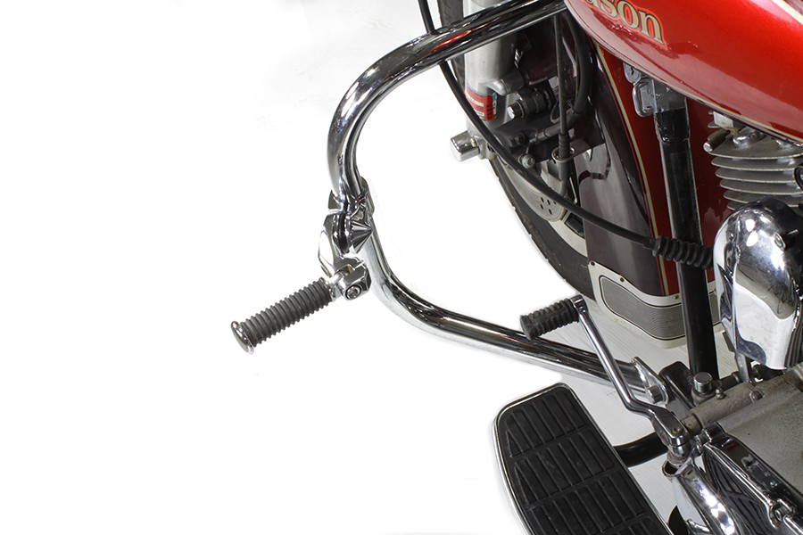 Chrome Short Angled Footpeg Mount Kit for 1980-UP FLT