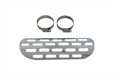 "Chrome Perforated 9"" Heat Shield for Big Twin & XL"