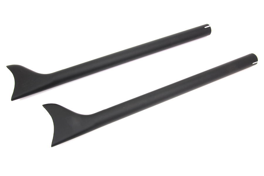 "Black Straight 30"" Fishtail Extension Set, 1-3/4"" Pipes"