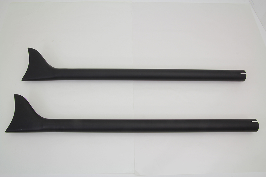 "Black Straight 36"" Fishtail Extension Set, 1-3/4"" Pipes"