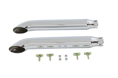 Chrome 1995-up FXDB Dyna Turnout Replacement Slip On Mufflers
