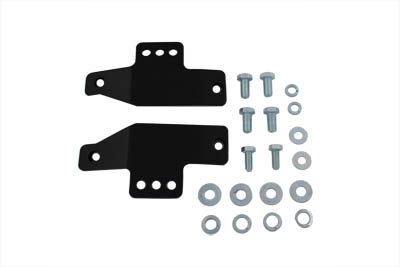 Black Seat Rail Mount Kit for Police Style Solo Seats