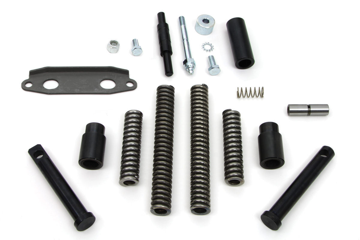 Black Finish Seat Plunger Kit for XL 1954-1970 Sportsters
