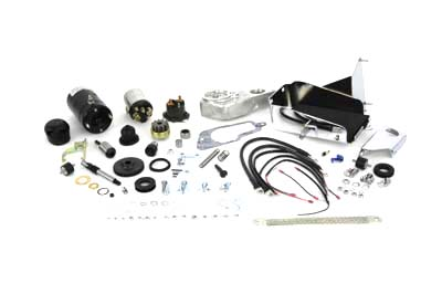 Hitachi Black Electric Starter Kit for XL 1967-1978 Sportsters