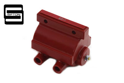 FL 1965-1979 Big Twins Sifton Red 12 Volt Dual Fire Coil