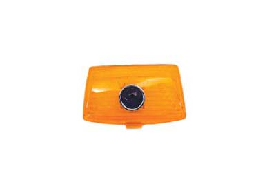 Amber Front Fender Tip Lens with Blue Dot