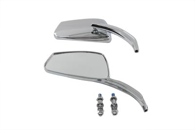 Chrome Rectangle Mirrors Set for Big Twin & XL Sportster