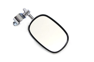 Chrome Rectangle Mirror with Clamp On Stem