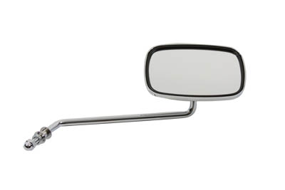 Chrome Rectangle Long Stem Right Side Mirror for Harley