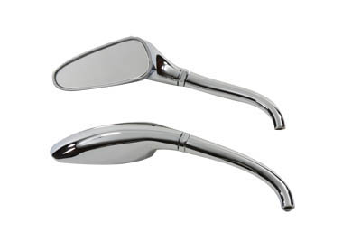 Chrome 3-D Tear Drop Mirrors Set for Harley