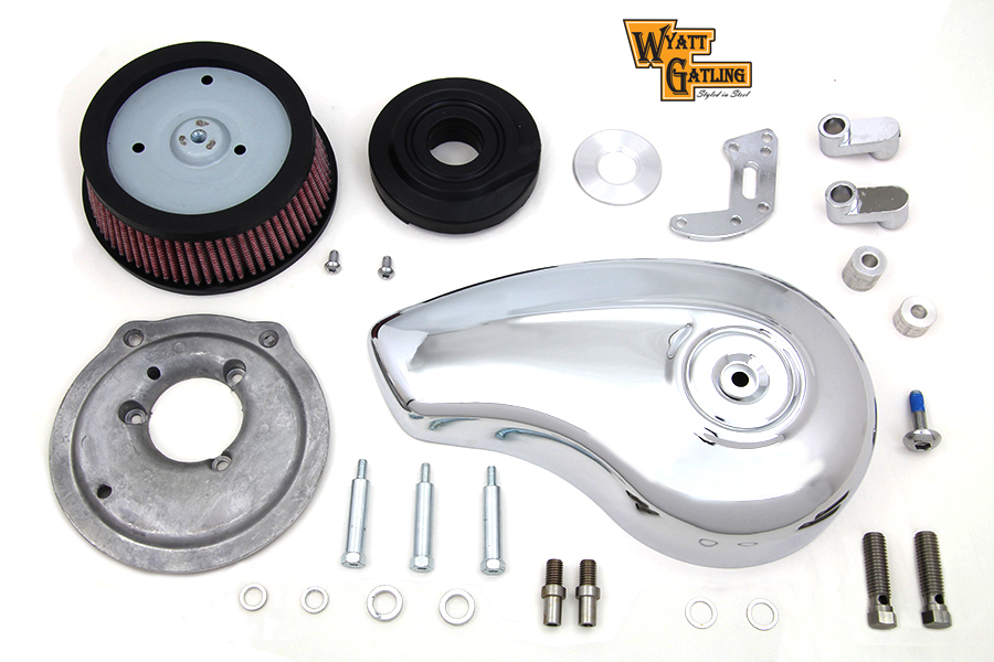 Tear Drop Chrome XL 1991-UP Sportster Air Cleaner Kit