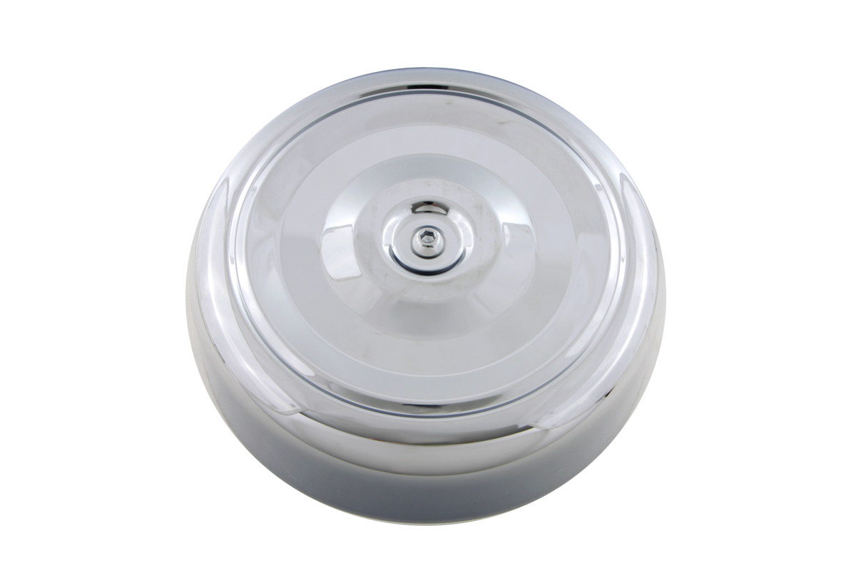 Chrome Round Bobbed Style 7 Air Cleaner Cover