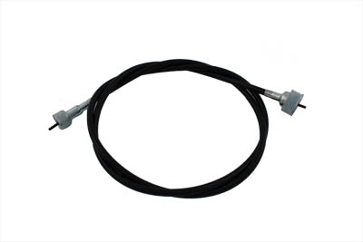 V-Twin 36-0604 42-1//2 Black Speedometer Cable