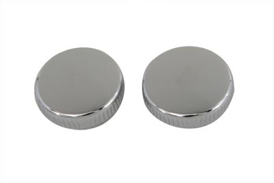 Frame Cover Chrome Knurled Knob Set for side cover or battery top knob