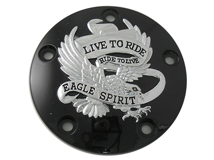 Black 5-Hole Eagle Spirit Point Cover, 1999-UP Big Twins