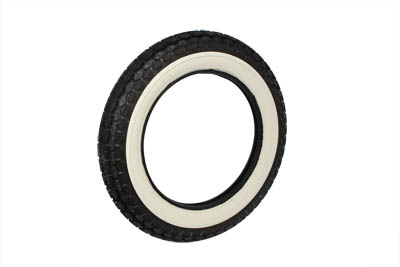 Replica Beck 4.50 x 18 Front/Rear Wide White Wall Tire