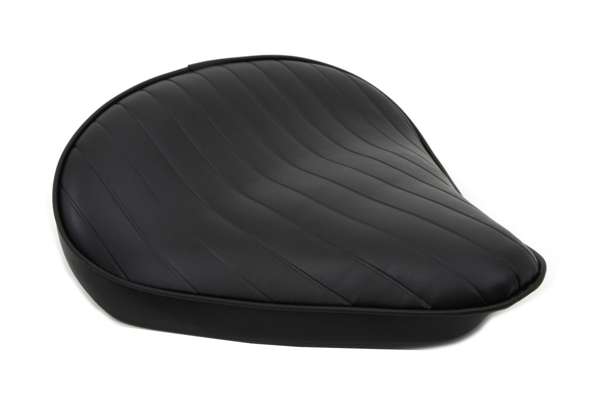Black Tuck and Roll Solo Seat Large