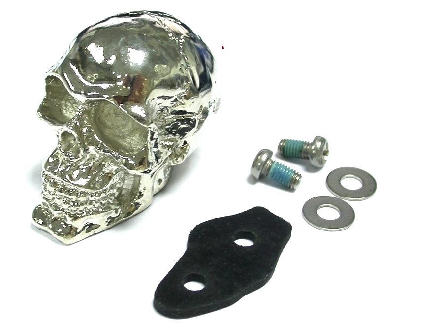 Chrome Skull Fender Ornament for Front or Rear Fenders