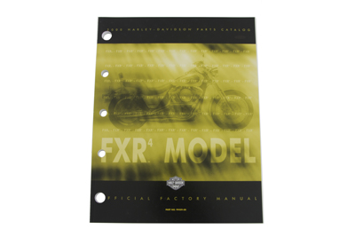 Factory Spare Parts Book for 2000 FXR (Stock 4)