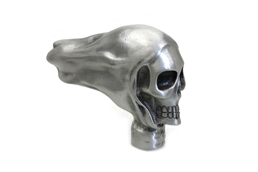 Skull Fender Ornament, Pewter Finish