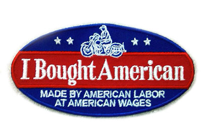 """I Bought American"" Patches 2"" x 4"""