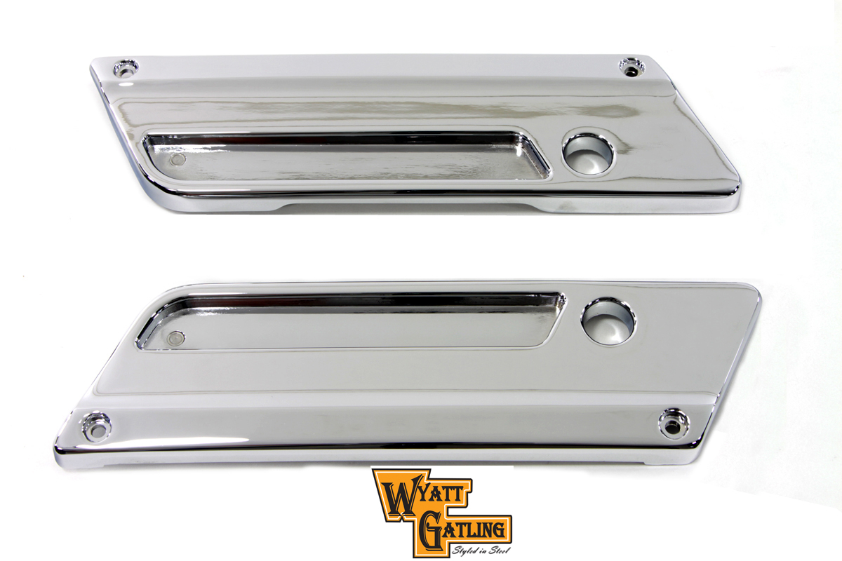 Chrome FLT 1993-UP Saddlebag Latch Face Plate Set