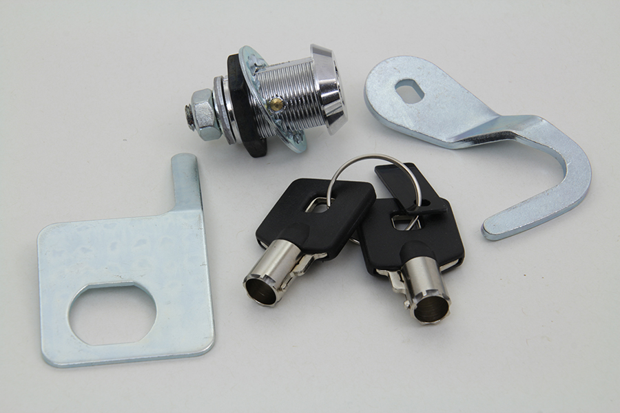 Chrome Saddlebag Lock and Key Kit for 1992-2013 FLT Touring