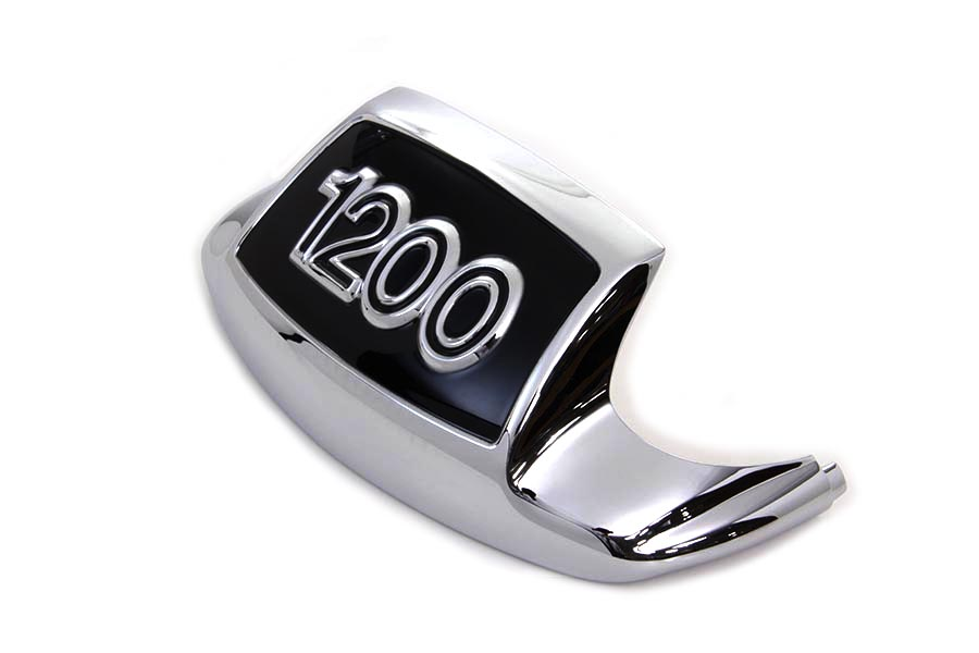 Chrome and Black Front Fender Tip 1200
