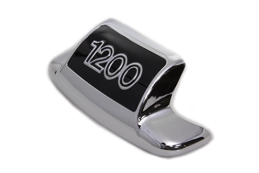 Chrome and Black Rear Fender Tip 1200