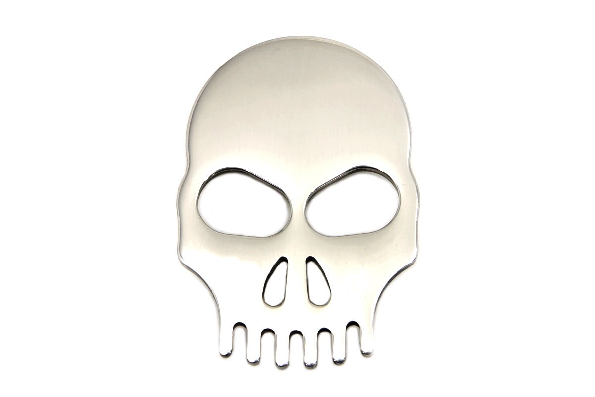 Stainless Steel Skull Fender Medallion