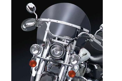 Chopped Clear Switchblade Removable Windshield Big Twin