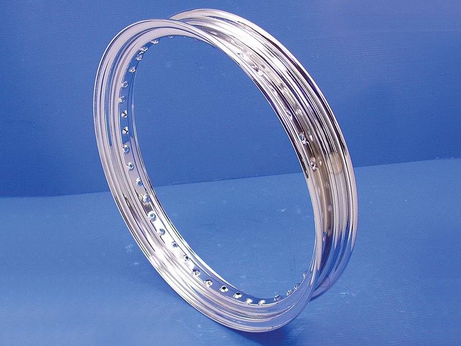 19 x 2.50 Drop Center Chrome Wheel Rim