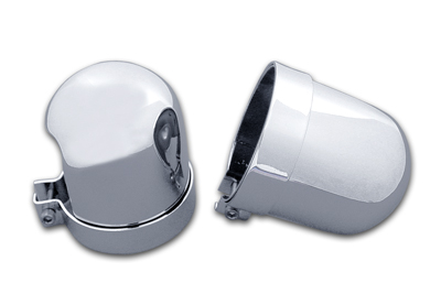 Chrome Dome Style Shock Cover Set for 1952-1984 Big Twin & XL