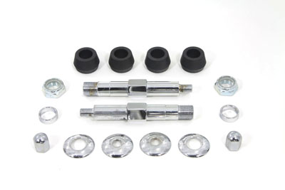 Chrome Upper Rear Shock Stud Kit for FL 1958-64 Big Twin