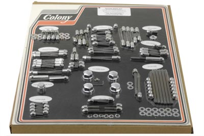 Chrome Engine Dress Up Acorn Bolt Kit for 1992-95 FXD & Softails - Click Image to Close